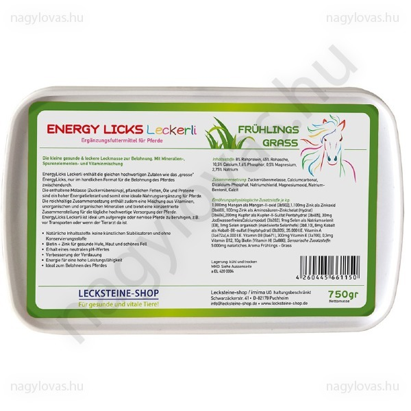 Energy Licks zöldfű nyalótömb 750g